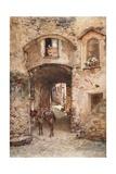 Street in Castrogiovanni Giclee Print by Alberto Pisa