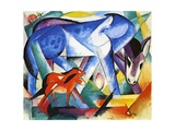 The First Animals, 1913 Giclee Print by Franz Marc