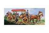 Tudor Carriage Giclee Print by Peter Jackson