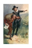 Evangelist Points the Way Giclee Print by Harold Copping