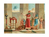 Ashurbanipal Offering Lions in Sacrifice Giclee Print by Dionisio Baixeras-Verdaguer