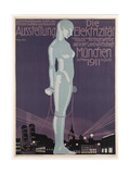 Poster Advertising the 'Electricity Exhibition', Munich, 1911 Giclee Print by Paul Neu