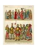 German Costume 1400-1450 Giclee Print by Albert Kretschmer