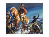 Crossing the Delaware River on Christmas Night Giclee Print by James Edwin Mcconnell