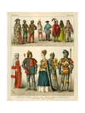 English Costume 1450-1500 Giclee Print by Albert Kretschmer