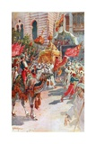 The Procession of the Holy Carpets Past the Prince and Princess of Wales at Cairo, February 5Th,… Giclee Print by Henry Sandham