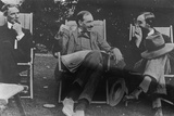 Bertrand Russell, J. M. Keynes and Lytton Strachey, c.1917 Photographic Print by  English Photographer
