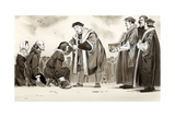 Henry VIII Curing the King's Evil Giclee Print by Angus Mcbride