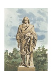 Statue of Blaise Pascal Giclee Print by S. Gomez