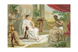 Conversation Between Pliny the Elder and the Emperor Vespasian Giclee Print by Josep or Jose Planella Coromina