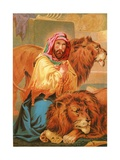 Daniel in the Lion's Den Giclee Print by  English School