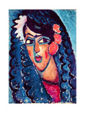 Princess with White Flower, 1913 Giclee Print by Alexej Von Jawlensky