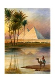 The Great Pyramid of Giizeh Giclee Print by  English School