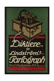 Poster Advertising Lindstrom's 'Parlograph', c.1913-16 Giclee Print by Louis Oppenheim