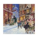 Dickensian Christmas Scene Impression giclée par Angus Mcbride
