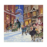 Dickensian Christmas Scene Giclee Print by Angus Mcbride