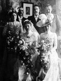 Edwardian Brides and Bridegrooms Photographic Print by  English Photographer