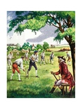 Early Cricket Match Giclee Print by Peter Jackson