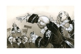 8th Century Servants at Political Meeting Giclee Print by Angus Mcbride