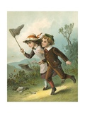 The Butterfly Hunt Giclee Print by  English School
