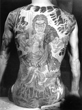 Man with Traditional Japanese Irezumi Tattoo, c.1910 Photographic Print by  Japanese Photographer