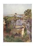 Latomia Dei Capuccini from Villa Politi, Syracuse Giclee Print by Alberto Pisa