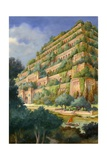 Hanging Gardens of Babylon Giclee Print by  English School