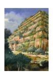 Hanging Gardens of Babylon Giclee Print by  English School