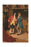 Robert Boyle and Denis Papin Inspect Papin's Steam Digester Giclee Print by Josep or Jose Planella Coromina