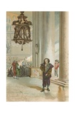 Galileo in the Cathedral in Pisa Giclee Print by Josep or Jose Planella Coromina