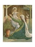Mary Playing with Jesus Giclee Print by John Lawson