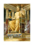 Statue of Zeus at Oympia Giclee Print by  English School