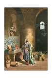 Rhases in His Chemical Laboratory in Baghdad Giclee Print by J. Serra