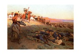 Custer's Last Stand, c.1914 Giclee Print by Richard Lorenz