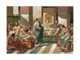 Banquet Given by the Seven Sages of Greece Giclee Print by P. Ros