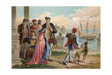 Tycho Brahe Leaving Uraniborg Giclee Print by P. Ros