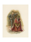 Hamlet and the King Giclee Print by Harold Copping