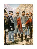 Garibaldi Is Asked to Halt the Campaign in Trentino. He Answers: I Obey Giclee Print by Tancredi Scarpelli