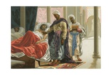 Abulcasis in the Hospital in Cordoba Giclee Print by Josep or Jose Planella Coromina