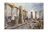 Interior of the Temple of Apollo at Bassae in Arcadia Giclee Print by John Fulleylove