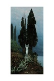 A Statue in a Lake Landscape, 1911 Giclee Print by Paul von Spaun