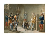 Columbus Chained under the Orders of Bobadilla Giclee Print by Ramon Puiggari