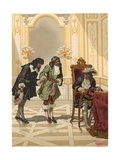 Giovanni Domenico Cassini Presented to Louis XIV by Colbert Giclee Print by Josep or Jose Planella Coromina