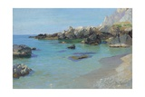 On the Capri Coast Giclee Print by Paul von Spaun
