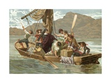 Descartes and the Boatmen of Elba Giclee Print by Josep or Jose Planella Coromina