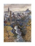 The Water of Leith from Dean Bridge Giclee Print by John Fulleylove