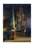The Blessing of the Colours, 1922 Giclée-tryk af Sir John Lavery