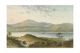 Loch Ness, from Above the Fall of Foyers Giclee Print by  English School