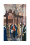 Dedication of the Chapel of St. Michael and St. George in St. Paul's Cathedral, June 12th, 1906 Giclee Print by Charles Mills Sheldon