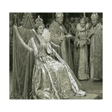 Coronation of Queen Elizabeth I Giclee Print by Fortunino Matania